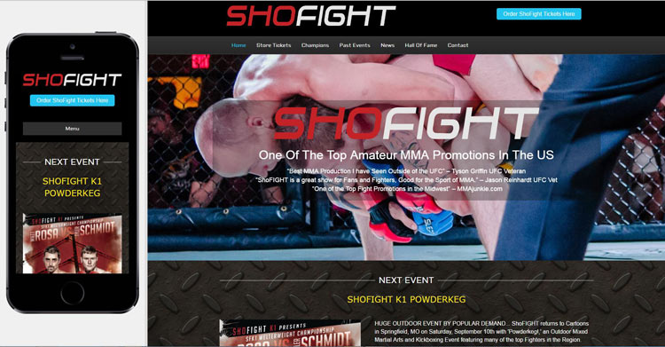 shofight-mma-website-design